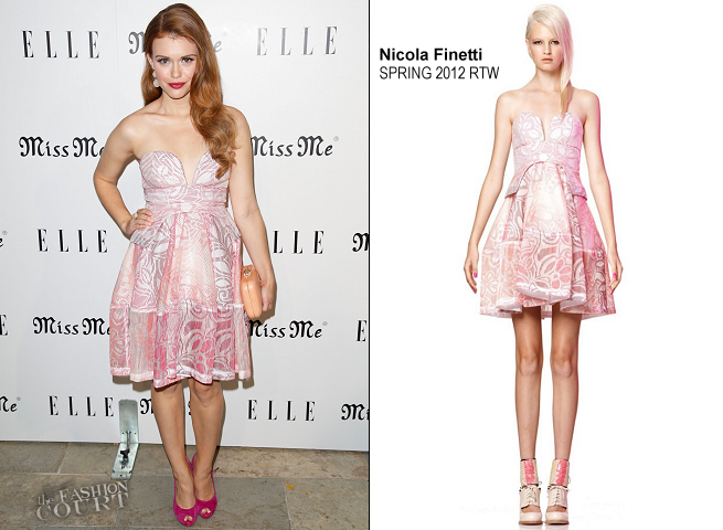 Holland Roden in Nicola Finetti | ELLE Magazine Host The Songbirds' 'Miss Me' Album Release Party