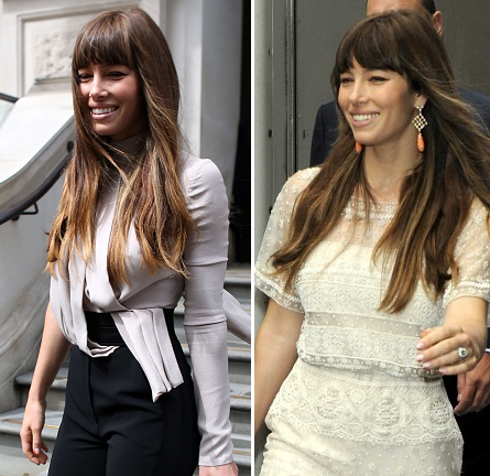 Jessica Biel in Valentino & Elie Saab | 'Total Recall' London Press Tour