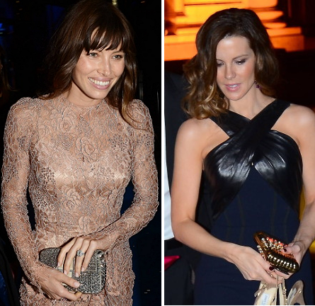 Jessica Biel in Dolce & Gabbana and Kate Beckinsale in Andrew Gn | 'Total Recall' Dublin Premiere After Party