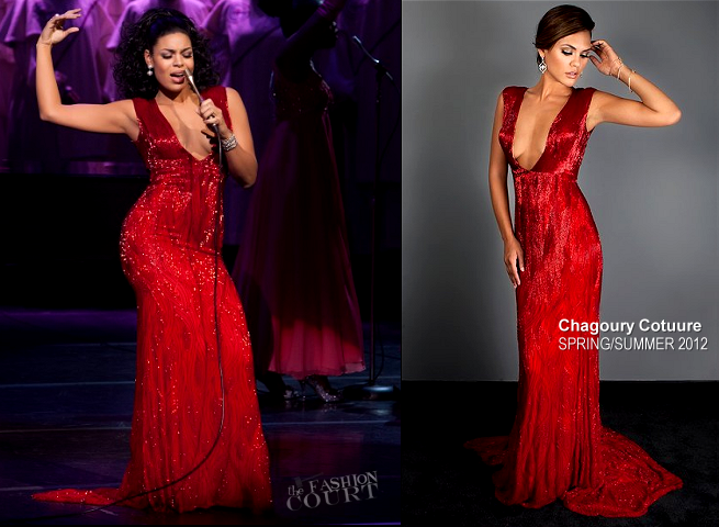 Jordin Sparks 'sparkles' on the silver screen in Chagoury Couture!