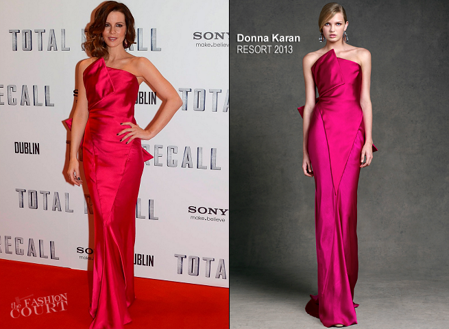 Kate Beckinsale in Donna Karan | 'Total Recall' Dublin Premiere