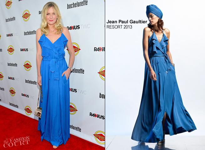 Kirsten Dunst in Jean Paul Gaultier | 'Bachelorette' LA Premiere