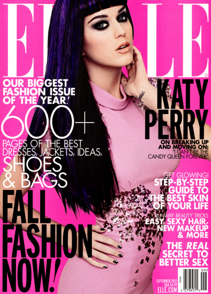 Cover Girl: Katy Perry for the September Issue of ELLE!