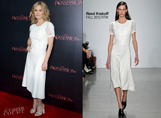 Kyra Sedgwick in Reed Krakoff | 'The Possession' Hollywood Premiere