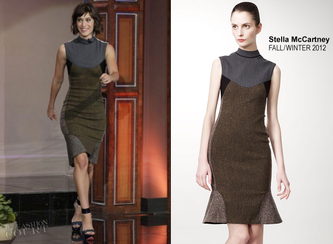 Lizzy Caplan in Stella McCartney | 'The Tonight Show with Jay Leno'