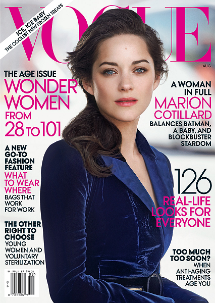 Cover Girl: Marion Cotillard's 'Dark Knight' Style for VOGUE's August Issue!