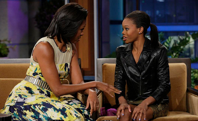 Michelle Obama in Bibhu Mohapatra | 'The Tonight Show with Jay Leno'