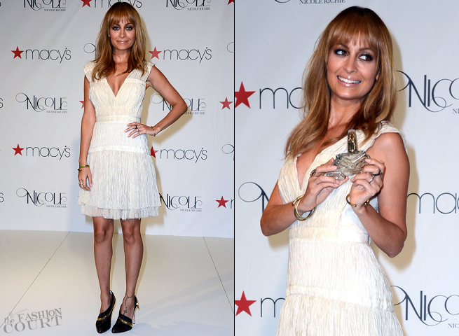 Nicole Richie in Alberta Ferretti | 'Nicole' Fragrance Launch