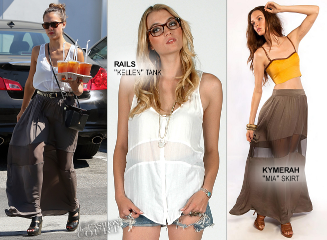 Jessica Alba's Casual Day Out in RAILS & KYMERAH!