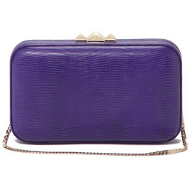 Rebecca Minkoff Lizard Embossed VINCENT Minaudiere Clutch