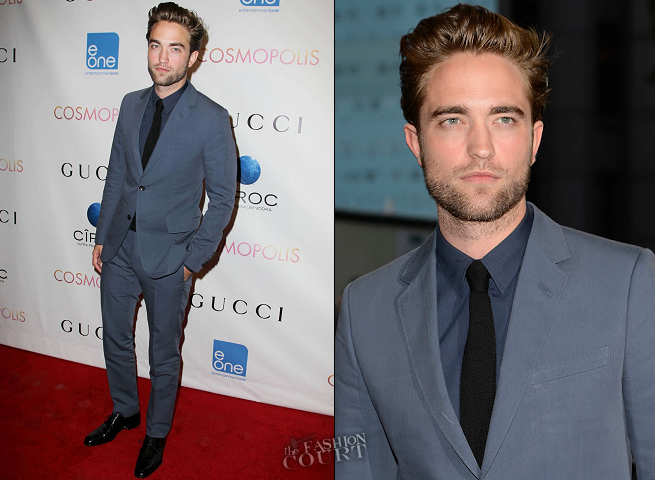Robert Pattinson in Gucci | 'Cosmopolis' NYC Premiere