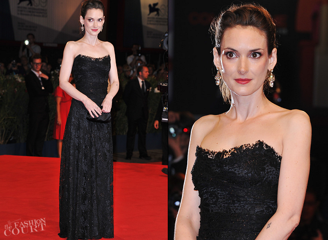 Winona Ryder in Dolce & Gabbana | 'The Iceman' Premiere - 2012 Venice International Film Festival