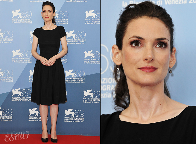 Winona Ryder in Vintage | 'The Iceman' Photocall - 2012 Venice International Film Festival