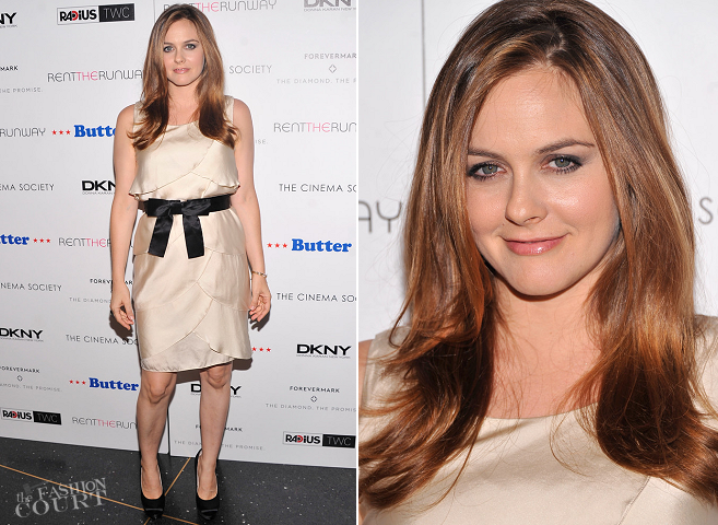 Alicia Silverstone in Moschino | 'Butter' NYC Premiere
