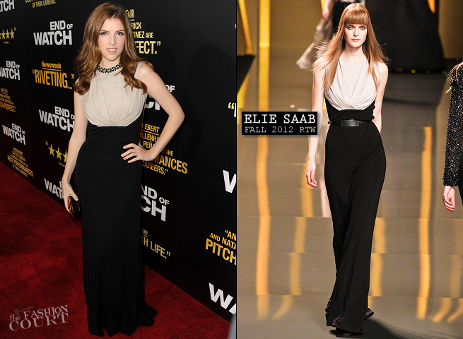 Anna Kendrick in Elie Saab | 'End of Watch' LA Premiere