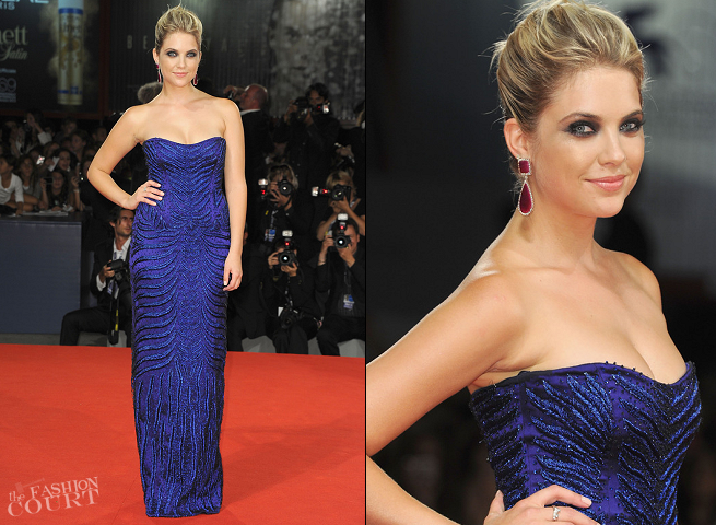 Ashley Benson in Alberta Ferretti | 'Spring Breakers' Premiere - 2012 Venice International Film Festival