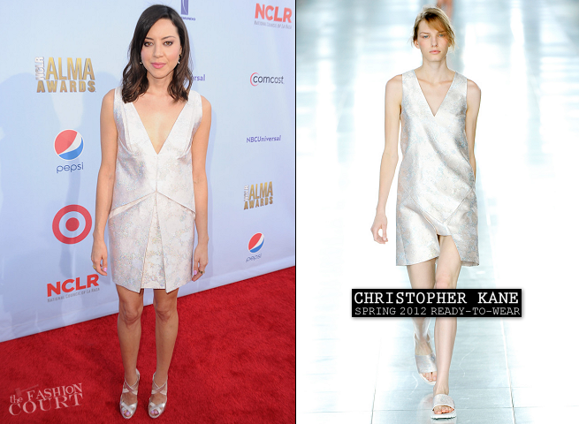 Aubrey Plaza in Christopher Kane | 2012 NCLR ALMA Awards