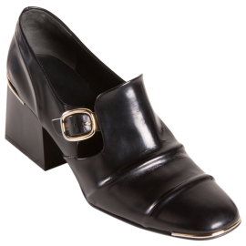 Balenciaga Open Toe Side Buckle Loafer