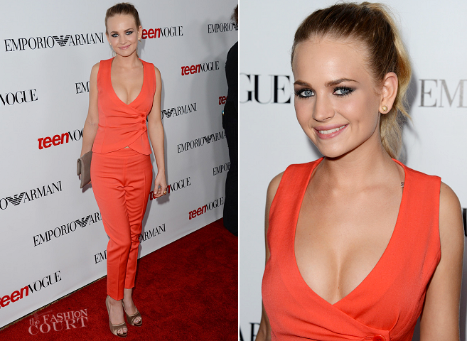 Britt Robertson in Emporio Armani | 10th Annual Teen Vogue Young Hollywood Party