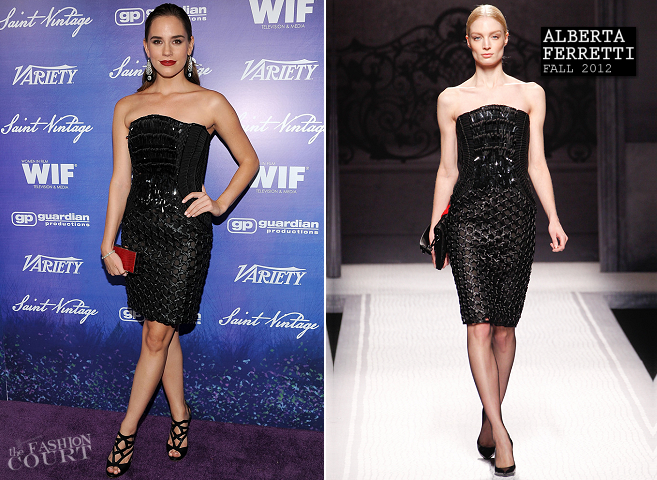 Christa B. Allen in Alberta Ferretti | Variety And Women In Film Pre-Emmy Event