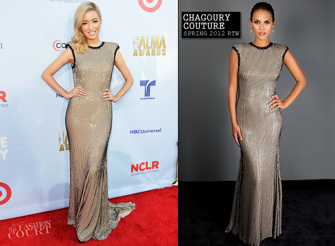 Christian Serratos in Chagoury Couture | 2012 NCLR ALMA Awards