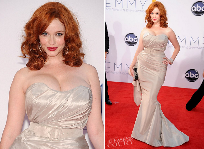 Christina Hendricks in Christian Siriano | 2012 Emmy Awards