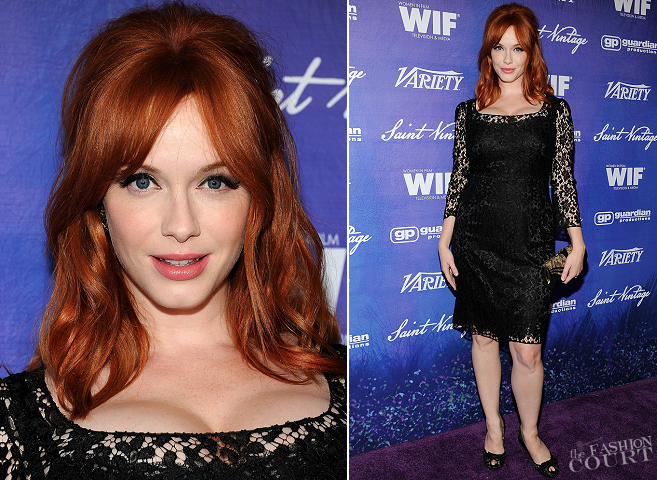 Christina Hendricks in Dolce & Gabbana | Variety And Women In Film Pre-Emmy Event