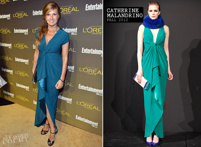 Connie Britton in Catherine Malandrino | 2012 Entertainment Weekly Pre-Emmy Party