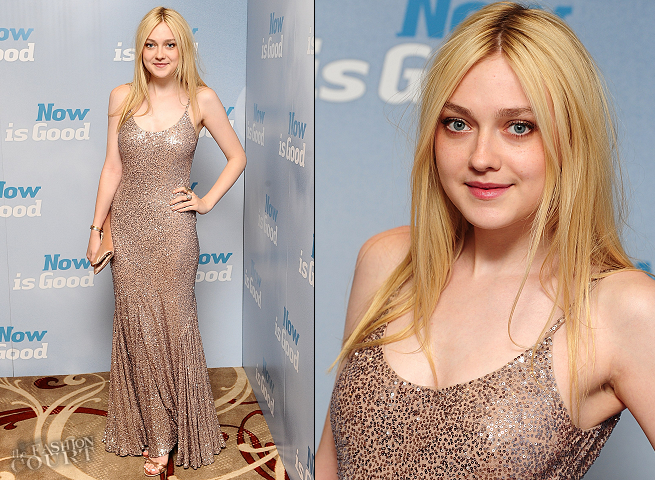 Dakota Fanning in Stella McCartney | 'Now Is Good' London Premiere