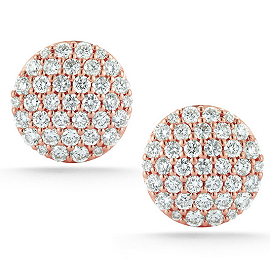 Dana Rebecca Designs Lauren Joy Rose Gold Large Studs