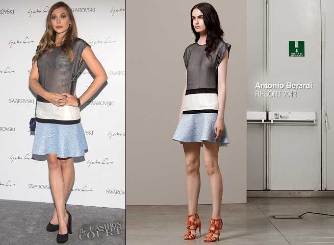 Elizabeth Olsen in Antonio Berardi | Swarovski Celebration Of Crystal & Art