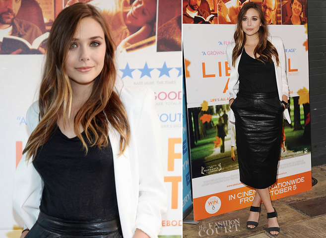 Elizabeth Olsen in Topshop + ASOS | 'Liberal Arts' London Photocall