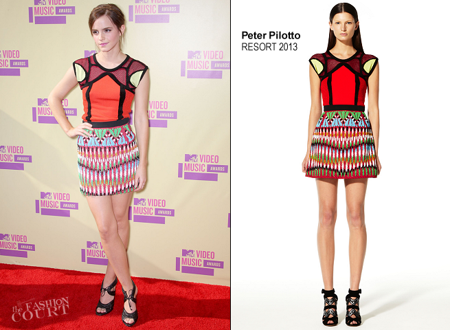 Emma Watson in Peter Pilotto | 2012 MTV Video Music Awards