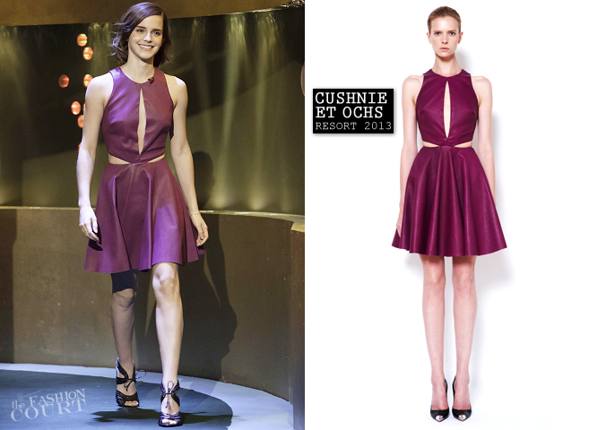 Emma Watson In Cushnie Et Ochs The Jonathan Ross Show