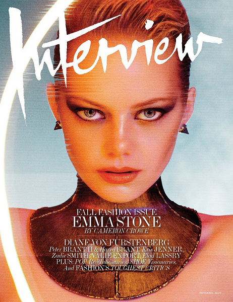 Cover Girl: Emma Stone's Electric 1980's Style for Interview's September Fashion Issue!
