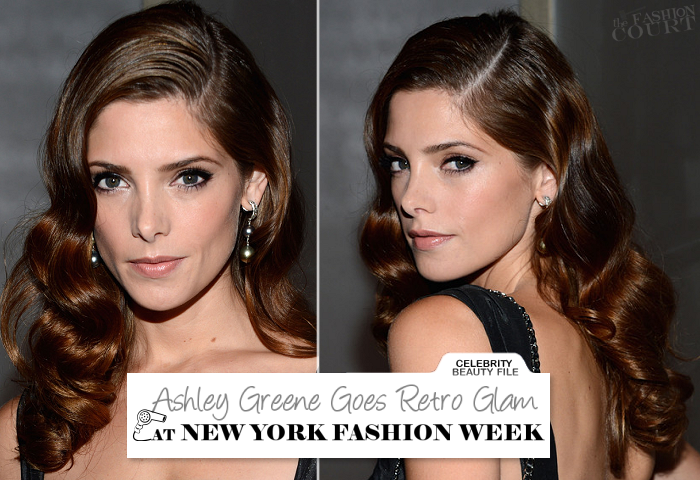 Ashley Greene Goes Retro Glam at New York Fashion Week!