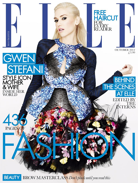 Gwen Stefani Gets Sucked Into a Kaleidoscope of Color for ELLE UK's October Issue!
