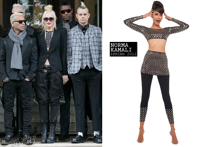 Gwen Stefani in Norma Kamali & Y-3 | No Doubt 'Push and Shove' UK Photocall