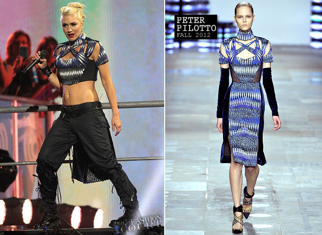 Gwen Stefani in Peter Pilotto | 2012 iHeartRadio Music Festival