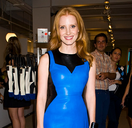 Jessica Chastain in Jason Wu   Fashion's Night Out 2012