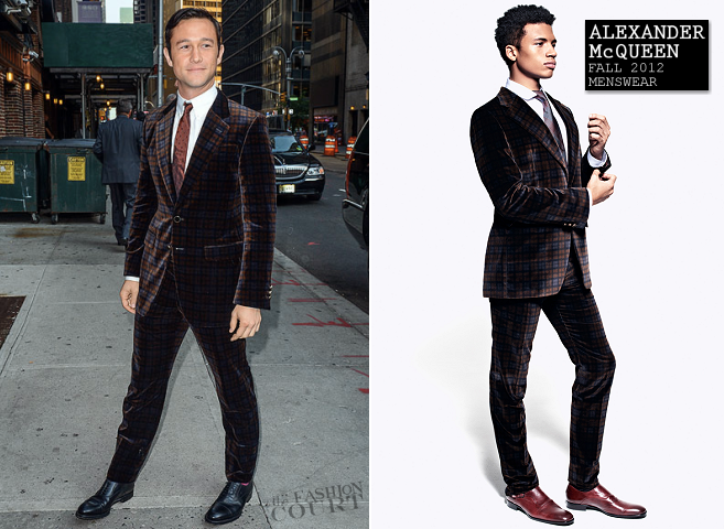Joseph Gordon-Levitt in Alexander McQueen | 'Late Show with David Letterman'
