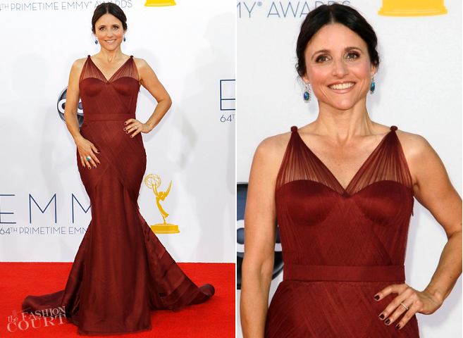 Julia Louis-Dreyfus in Vera Wang | 2012 Emmy Awards