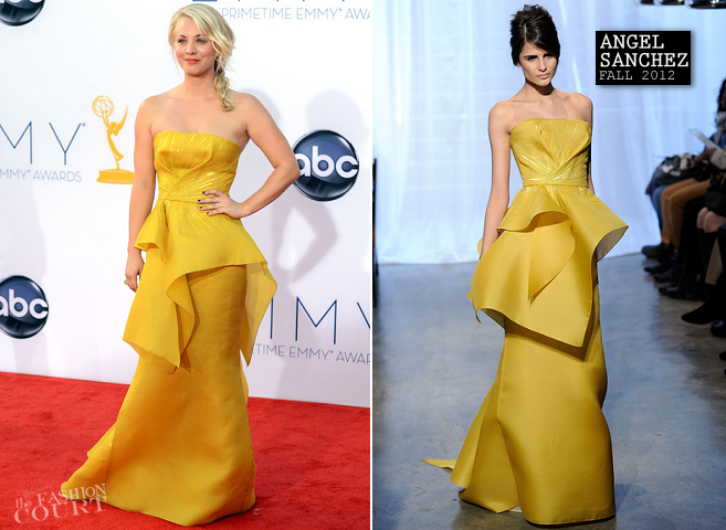 Kaley Cuoco in Angel Sanchez | 2012 Emmy Awards