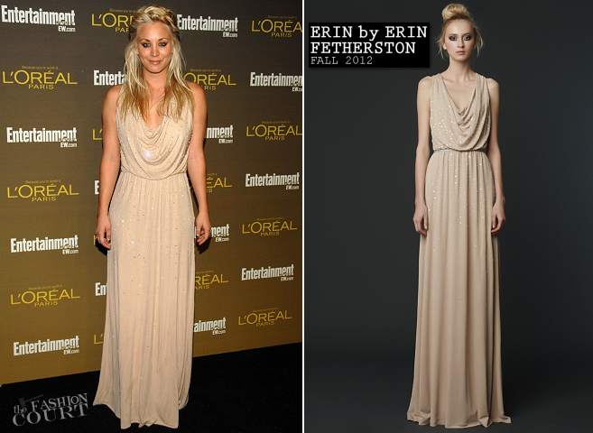 Kaley Cuoco in ERIN by Erin Fetherston | 2012 Entertainment Weekly Pre-Emmy Party