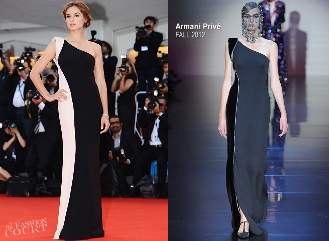 Kasia Smutniak in Armani Privé | 'L'Homme Qui Rit' Premiere & Award Ceremony - 2012 Venice International Film Festival