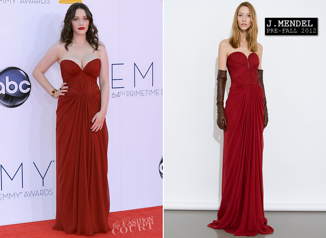 Kat Dennings in J. Mendel | 2012 Emmy Awards