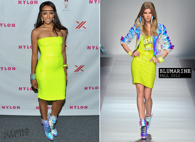Kat Graham in Blumarine | NYLON Magazine + SONY September Issue Launch Party