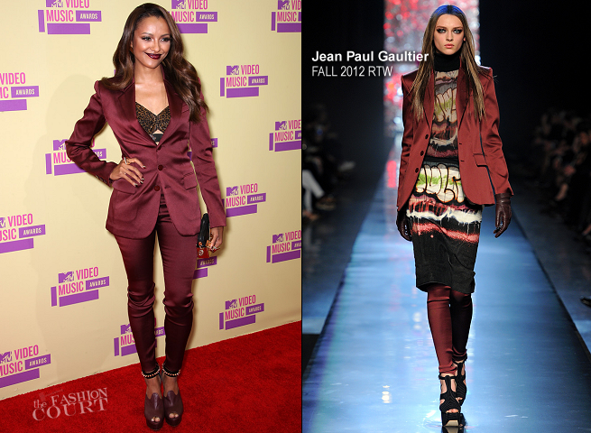 Kat Graham in Jean Paul Gaultier | 2012 MTV Video Music Awards