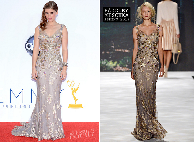 Kate Mara in Badgley Mischka | 2012 Emmy Awards