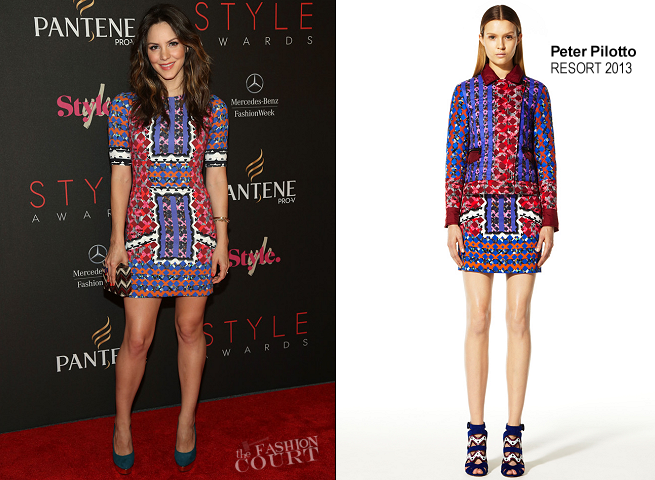 Katharine McPhee in Peter Pilotto | 2012 Style Awards